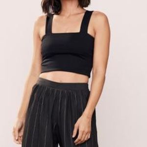 David Lerner New York Wide Strap Crop Top Tank